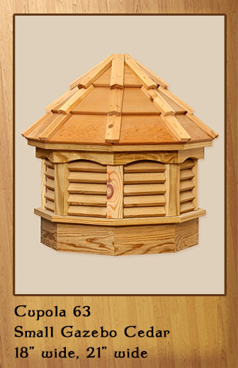 Small Gazebo Cedar Cupola