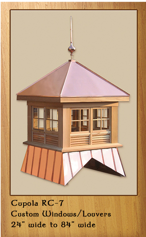 Cedar Cupola with Standing Seam Roof and Base