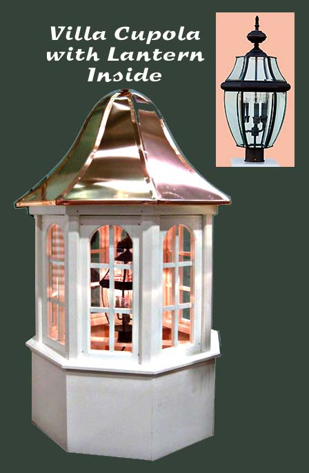 Villa cupola with lantern inside