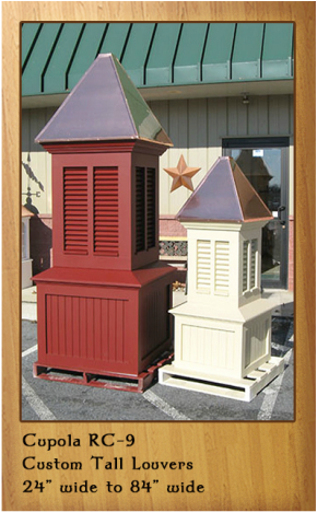 Tall Vinyl Painted Custom Cupolas