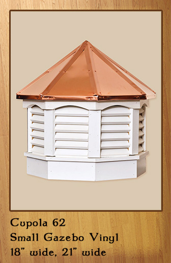 Small Gazebo Vinyl Cupola