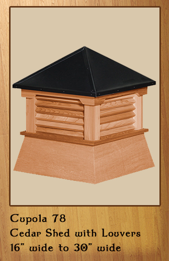 Wood/Shed Cupolas Cedar or Vinyl - Valley Forge Cupolas ...
