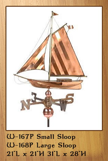 Small & Large Sloop Weathervane