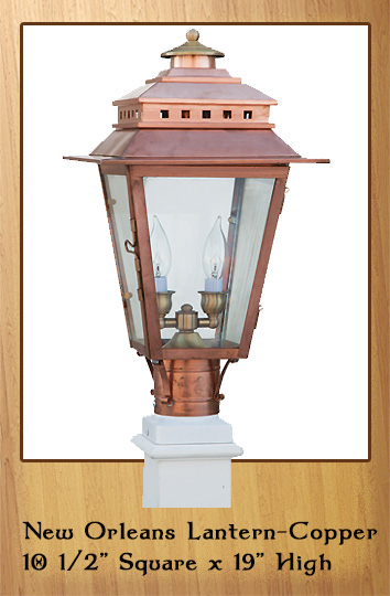 New Orleans Lantern - Copper