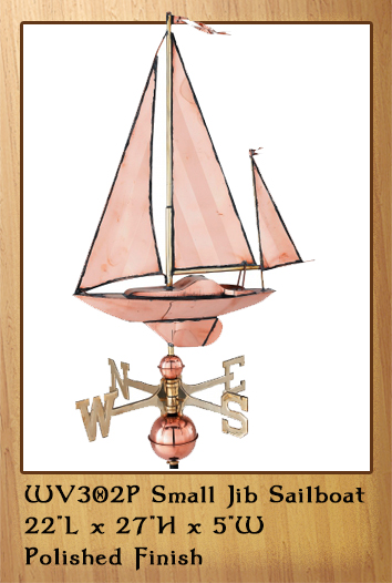Small Jib Sailboat Weathervane