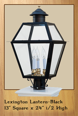 Lexington Lantern - Black