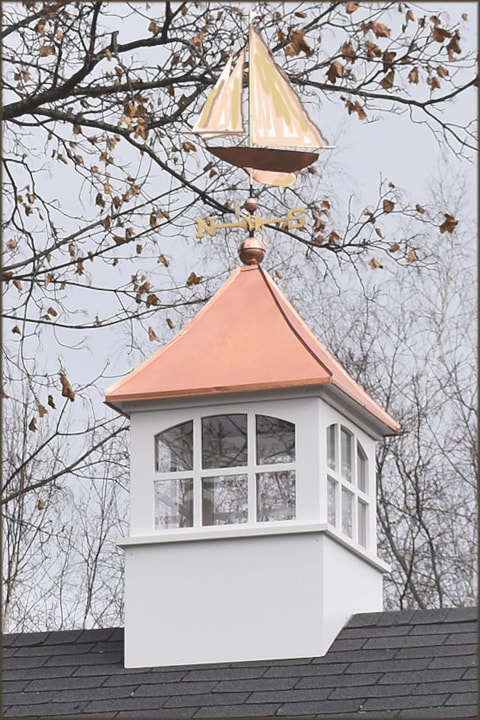 CNC Window Cupola with Racing Sloop Weathervane
