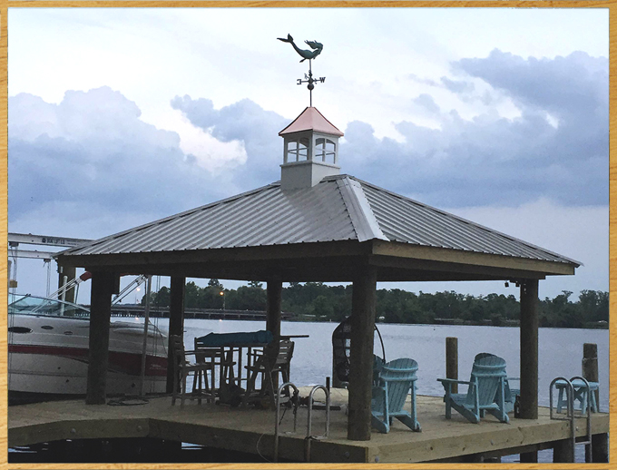 Cupola on boat dock