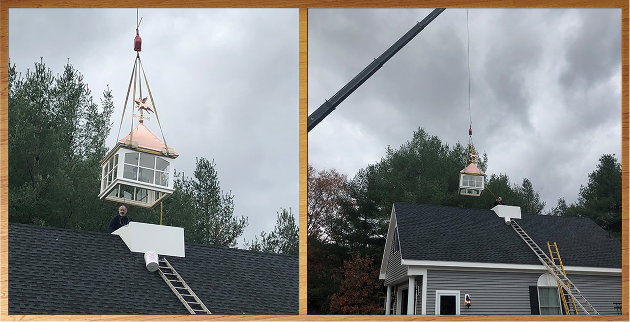 Crane Placing Cupola
