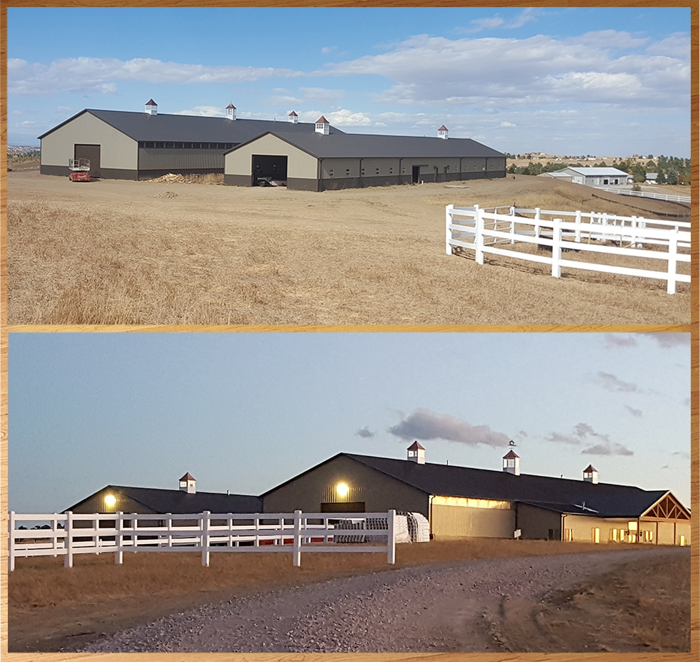Two (2) 200' Barns, Multiple Cupolas